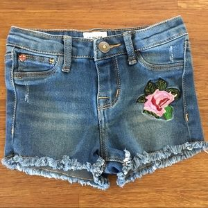 Hudson Denim Cutoff Shorts Rose Patch